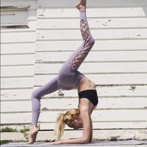 ac1dde0126 ALO Yoga Pants   Interlace Legging Twilight   Poshmark